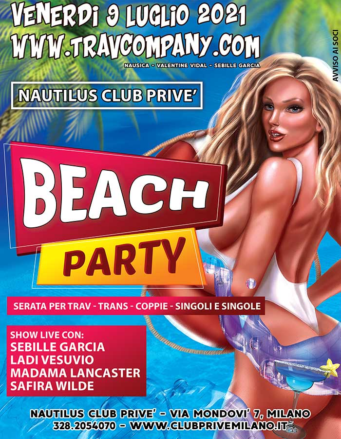 Travcompany trav trans coppie beach party