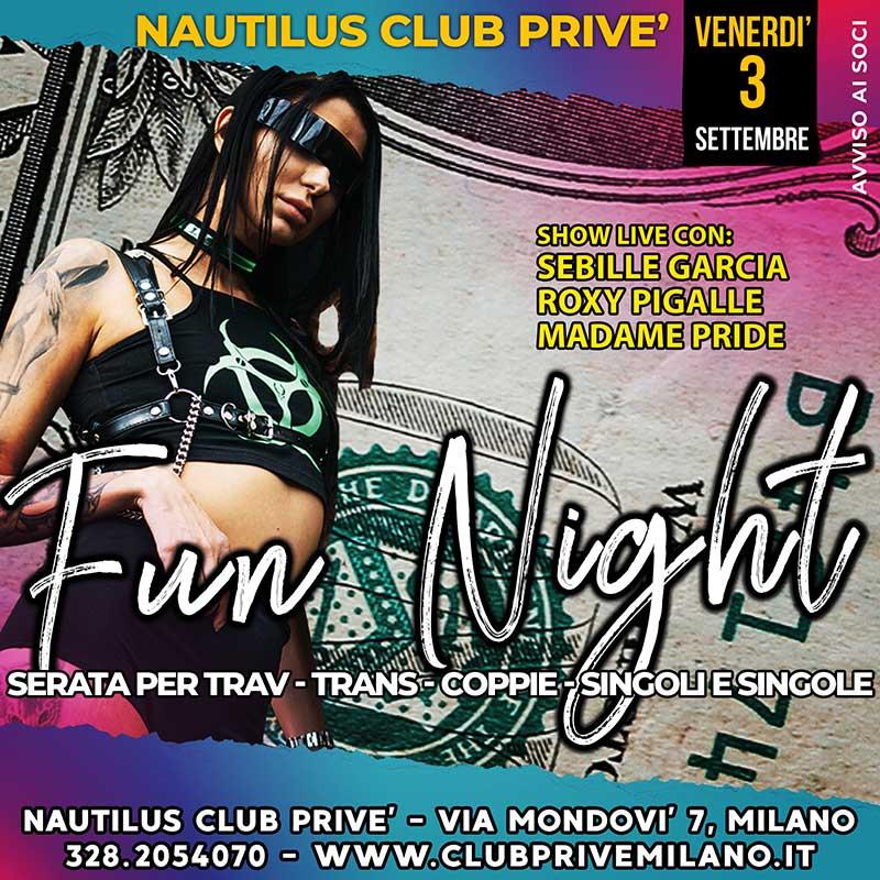 venerdi fun night divertimento club prive