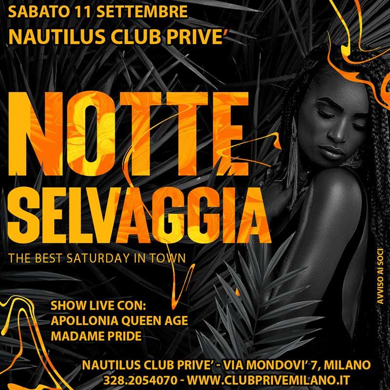 Club Prive Milano Notte Selvaggia