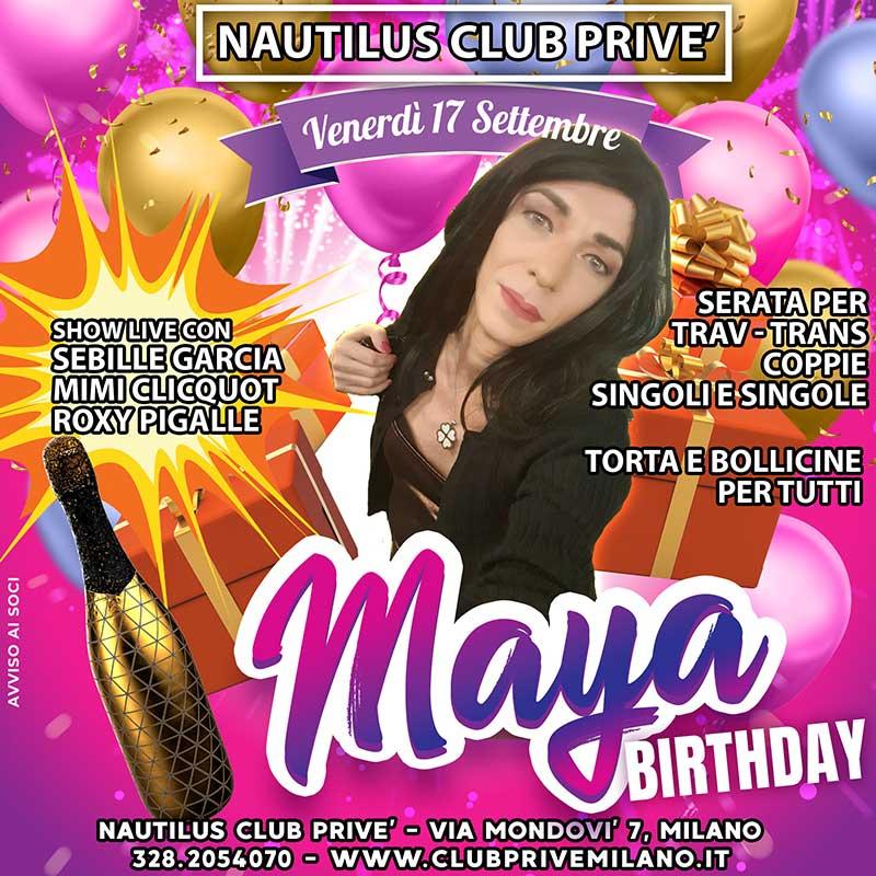 Trav Trans Coppie Compleanno Maya Club Prive