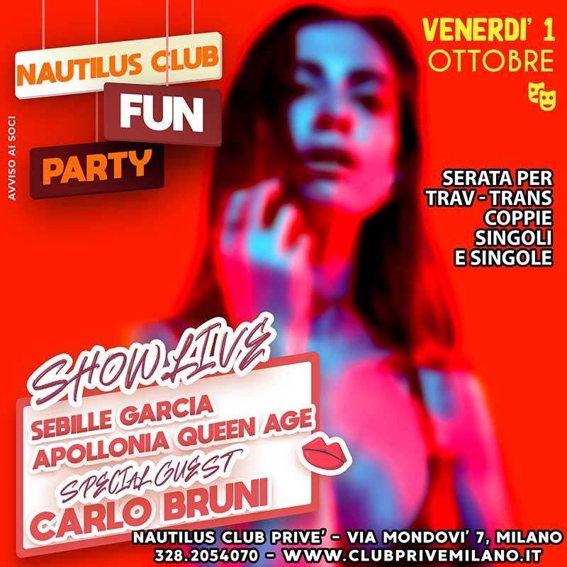 fun party nautilus club venerdi